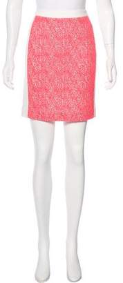 Roland Mouret Lace-Accented Mini Skirt