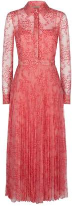 Burberry Lace Pleated Shirt Dress