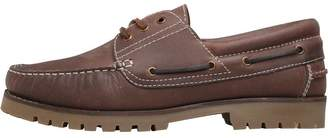 Onfire Mens Leather Cleat Soled Boat Shoes Brown