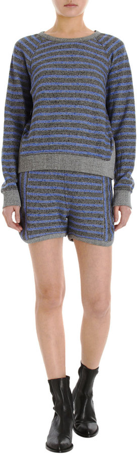 Alexander Wang Striped Crewneck Sweatshirt