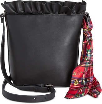 Betsey Johnson Ruffled Bucket Bag