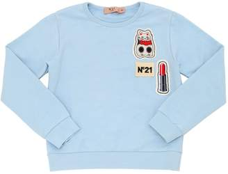 N°21 Light Cotton Sweatshirt W/ Patches