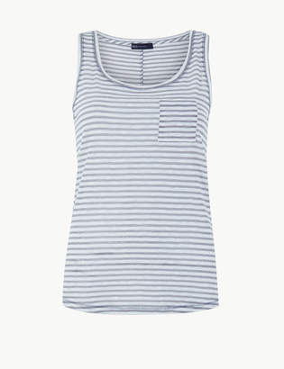 Marks and Spencer Cotton Rich Striped Vest Top