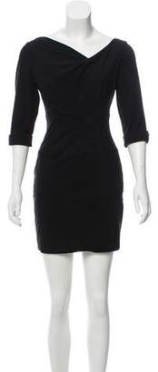 Black Halo Three-Quarter Sleeve Mini Dress