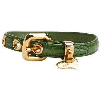 37cbfdf6279 Miu Miu Green Leather Bracelets