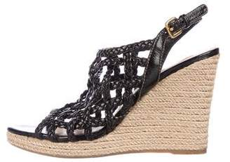 Prada Sport Braided Espadrille Wedges