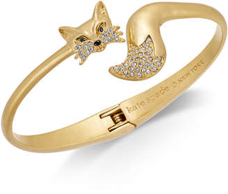 Kate Spade Gold-Tone Pave Fox Cuff Bracelet