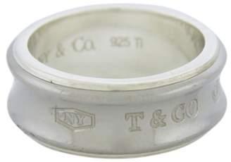 Tiffany & Co. 925 Sterling Silver & Galaxy Grey Titanium Ring Size 7.5
