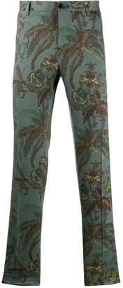 Etro floral print suit trousers