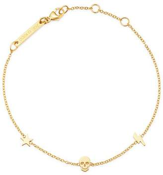 Chicco Zoë 14K Yellow Gold Itty Bitty Star, Bolt & Skull Station Bracelet