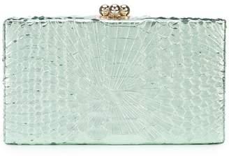 Edie Parker snakeskin-style clutch bag