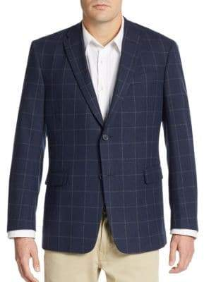 Tommy Hilfiger Regular-Fit Windowpane Check Jacket