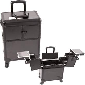 Sunrise Professional Rolling Makeup Case Cosmetic Train Case Trolley Beauty Organizer w/Handle ()