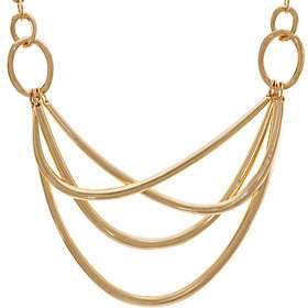 Linea by Louis Dell'Olio Trapeze Metal CrissCross Necklace