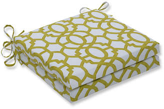 Nunu PILLOW PERFECT Pillow Perfect Outdoor / Indoor Geo Squared Corners Seat Cushion 20x20x3 (Set of 2)