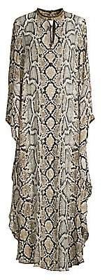 Camilla Women's Mother Python-Print Silk Caftan Maxi Dress
