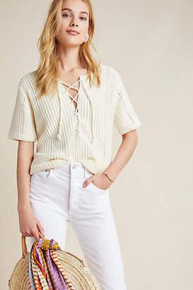 Anthropologie Winnie Lace-Up Tunic