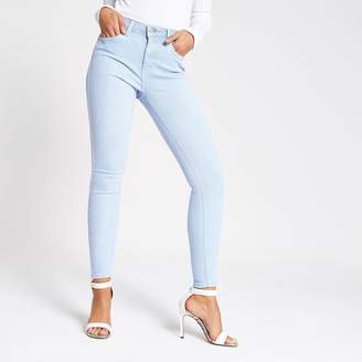 River Island Womens Light Blue Amelie super skinny jeans