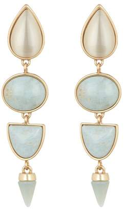 Lucky Brand Mixed Stone Statement Dangle Earrings