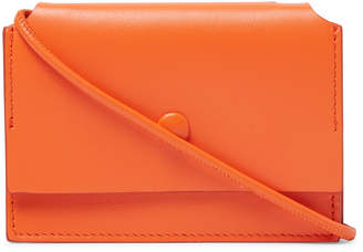 Acne Studios Leather Crossbody Cardholder - Men - Orange
