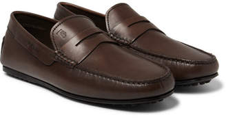 Tod's City Gommino Leather Penny Loafers - Brown