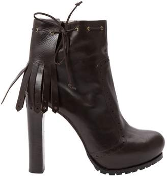 Gianfranco Ferre Leather ankle boots