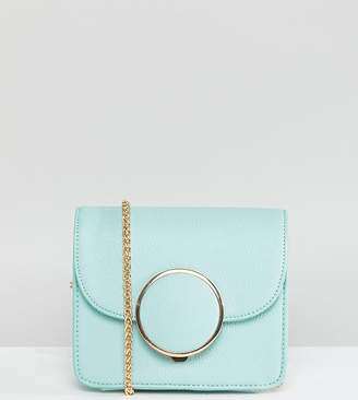 At Asos Glamorous Structured Cross Body Bag With Circle Detail