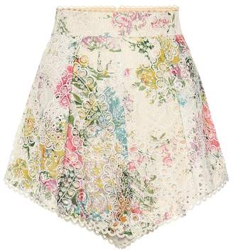 Zimmermann Heathers high-waisted cotton shorts