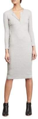 Amour Vert Ribbed Henley Dress