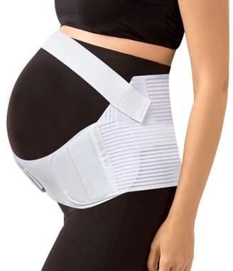Unique Bargains (White,XL) Maternity Support Belt Pregnancy Belly Band Back Waist Abdomen Brace