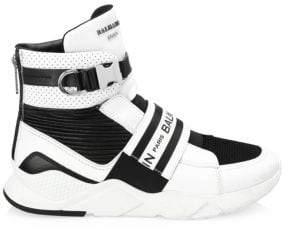 Balmain Exton Leather High Top Boots