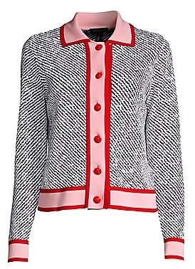 Escada Women's Segrad Striped Virgin Wool Cardigan