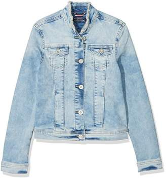 Tommy Hilfiger Girl's S Denim Trucker Clpst Jacket,(Manufacturer Size: 14)