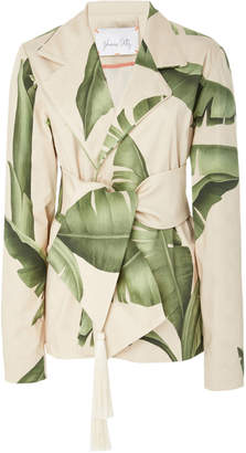 Johanna Ortiz Seriously Tropical Printed Cotton-Sateen Blazer
