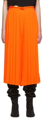 MM6 MAISON MARGIELA Orange Pleated Culottes