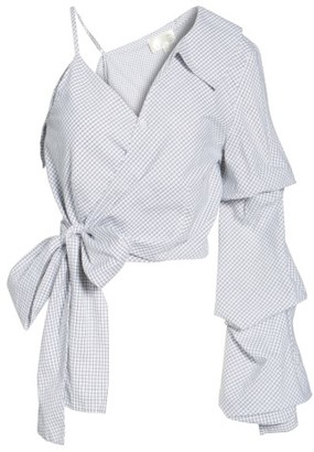 Women's J.o.a. One-Shoulder Wrap Top $69 thestylecure.com