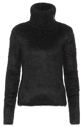 Saint Laurent Mohair and wool-blend turtleneck sweater