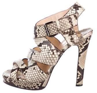 Christian Louboutin Snakeskin Multistrap Sandals