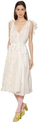 Rochas Floral Cotton & Silk Voile Dress