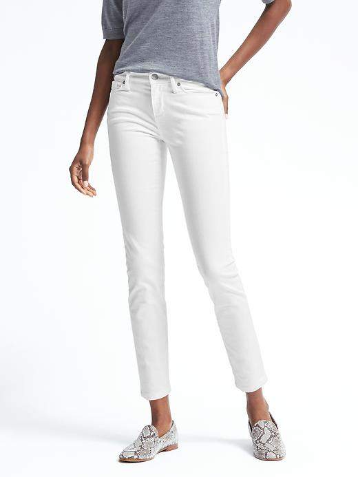 Stay White Skinny Ankle Jean