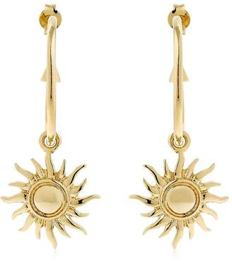 Schield Hoop Earrings W/ Sun Charms