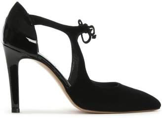 Brunate Calpierre Mardan Black Suede Cut Away Court Shoes