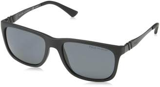 Polo Ralph Lauren Polo PH4088 Sunglass-528481 Matte Black (Polarized Gray Lens)-55mm