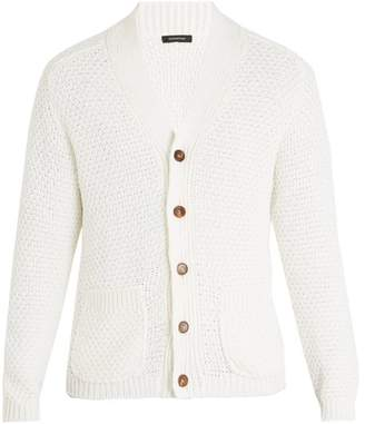 Ermenegildo Zegna - Cotton And Silk Blend Knitted Cardigan - Mens - White