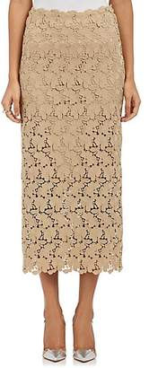 Robert Rodriguez Women's Lace Pencil Skirt - Beige, Tan