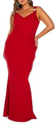 Quiz Curve Plus Embellished Sleeveless Gown