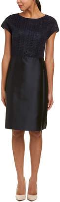 Lafayette 148 New York Hillany Silk-Blend A-Line Dress