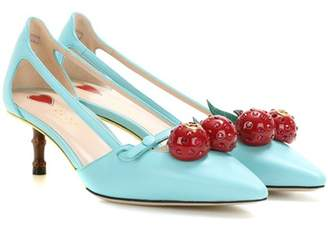 Gucci Cherry patent leather pumps