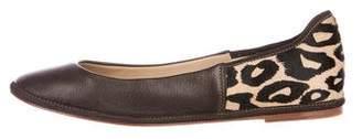 Diane von Furstenberg Leather Ponyhair-Accented Flats