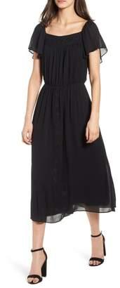 Hinge Tie Back Midi Dress